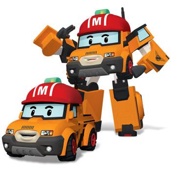 银辉玩具变形警车珀利poli动漫周边汽车皮卡车机器人