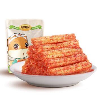 三只松鼠_香辣味辣条180g休闲零食特产小吃大刀肉大面筋